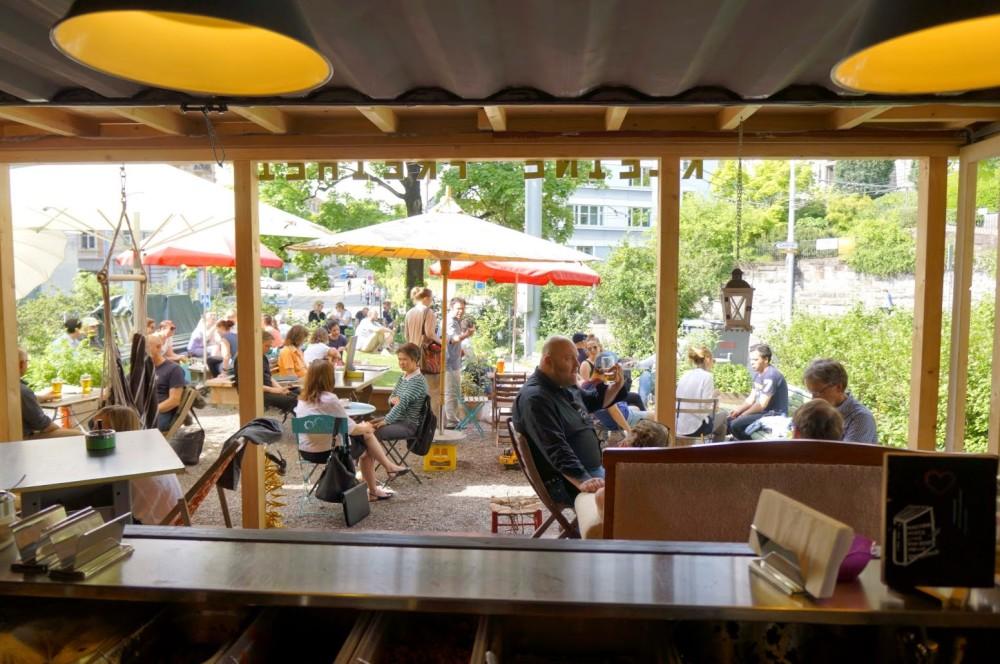 Die Aussicht vom der Bar der kleinen Freiheit