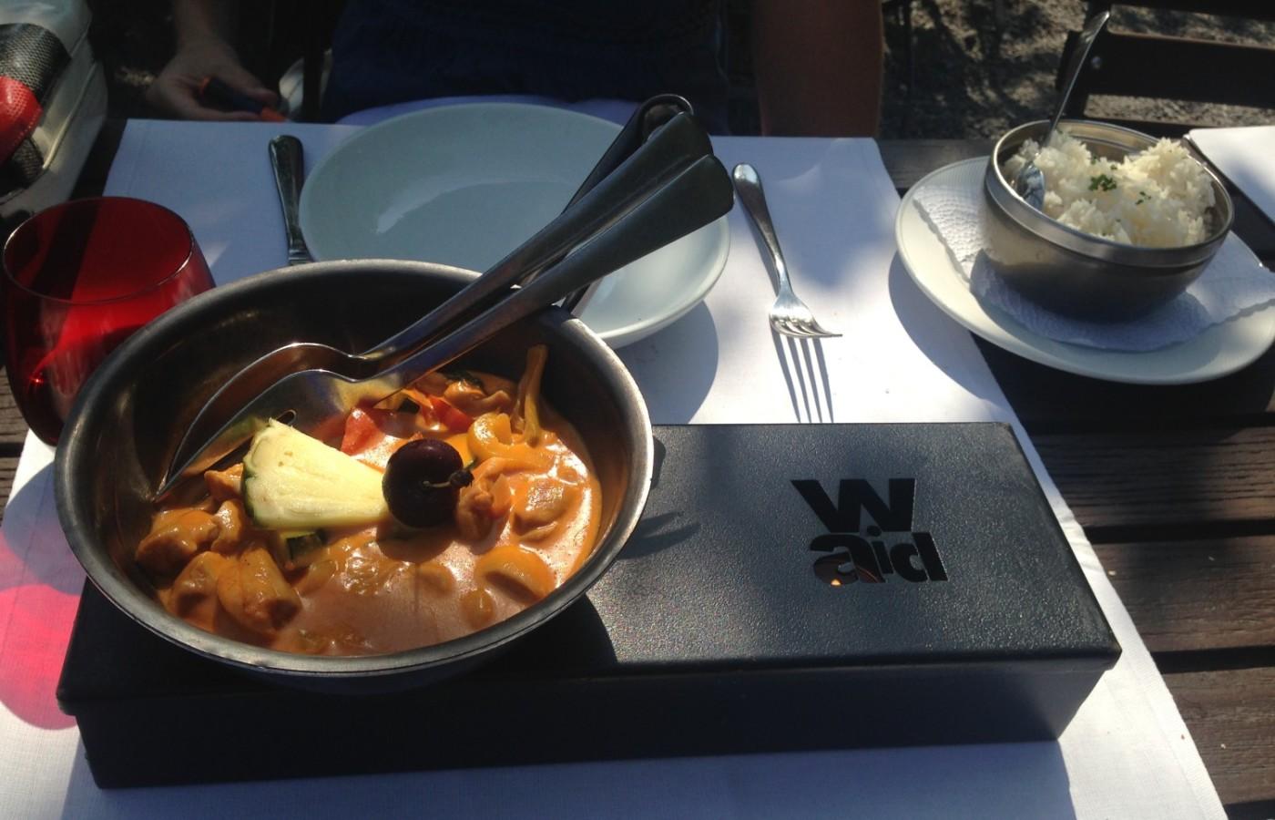 Das Wok-Gericht meiner Begleitung