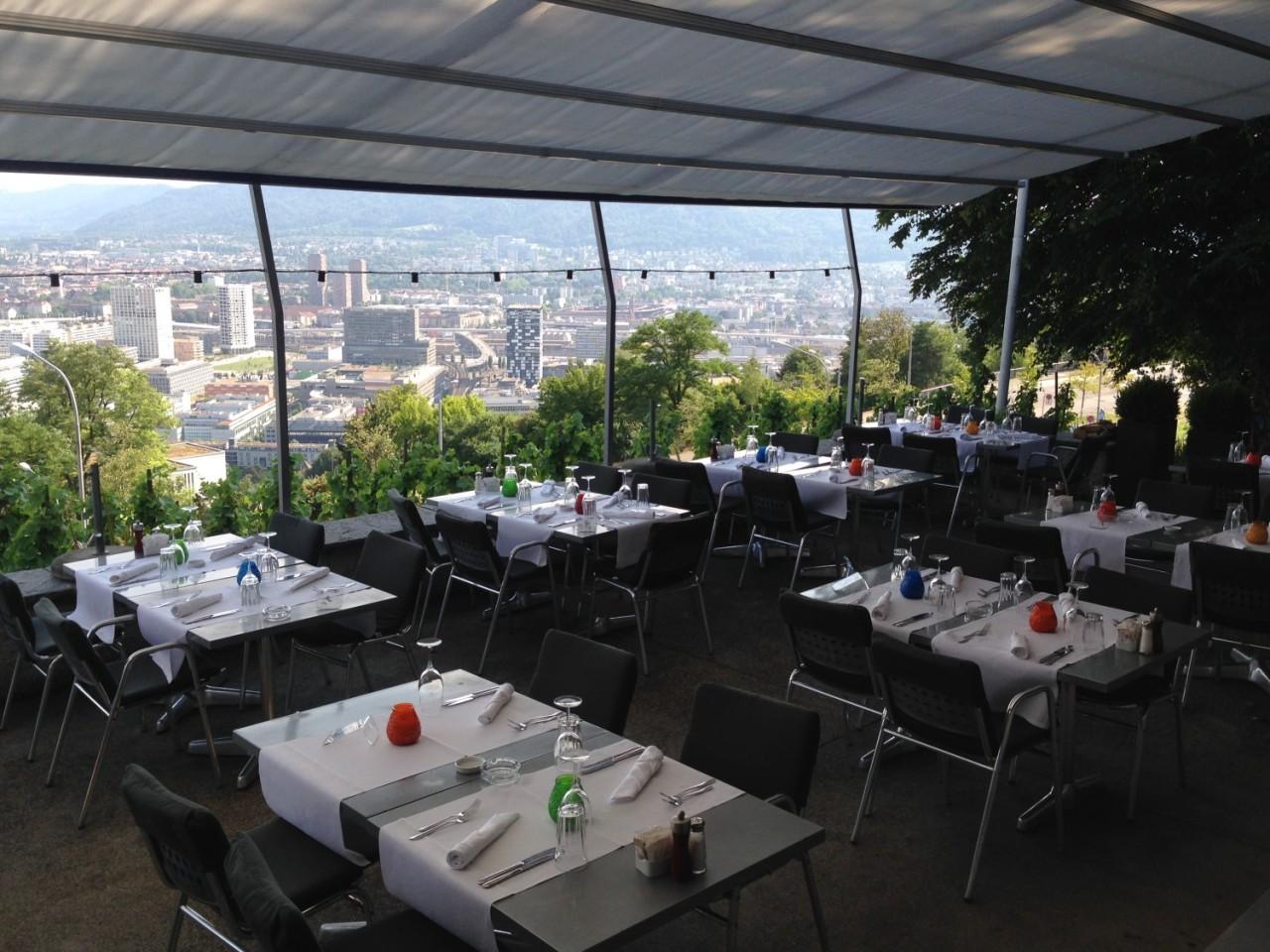 Die Aussicht auf die Stadt Zürich