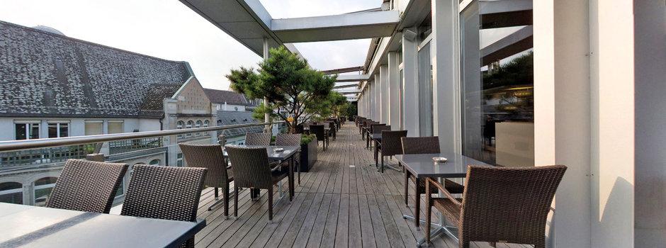 Die Dachterrasse des Jelmoli-Restaurants