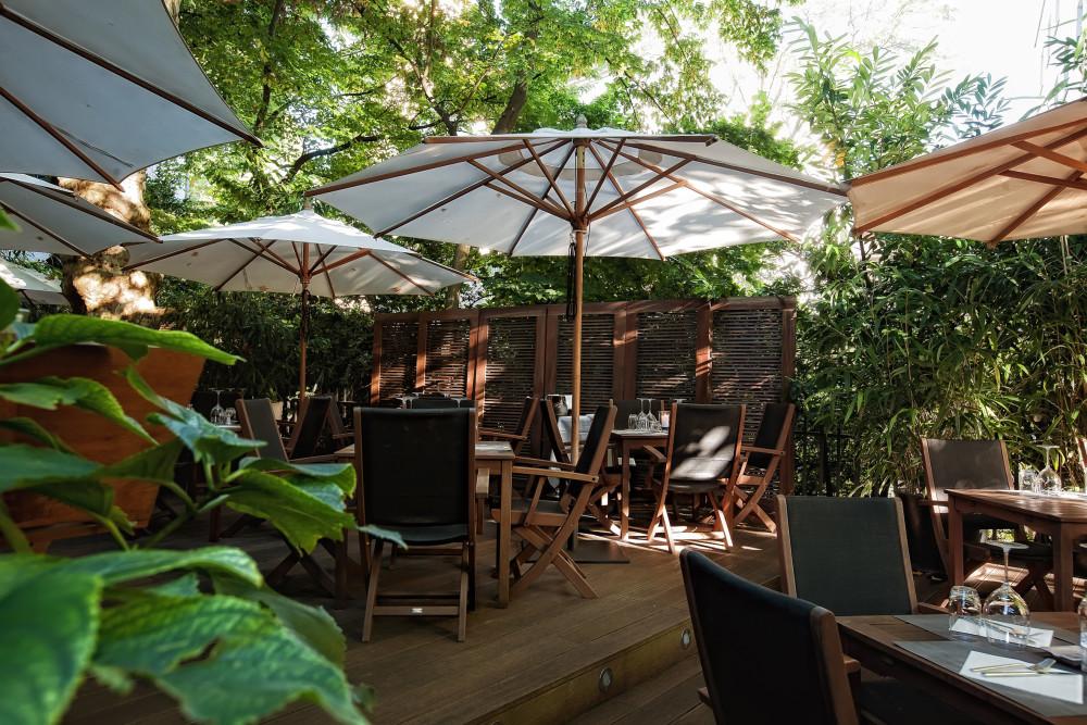 Garten des Restaurant Tao's