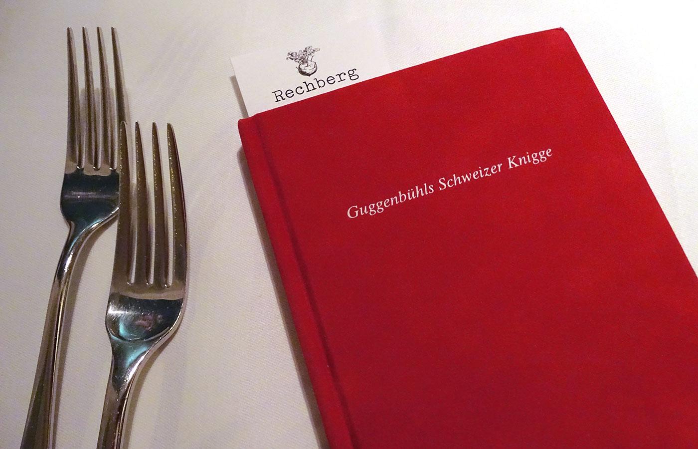 Restaurant Rechberg 1837 - Speisekarte im Knigge