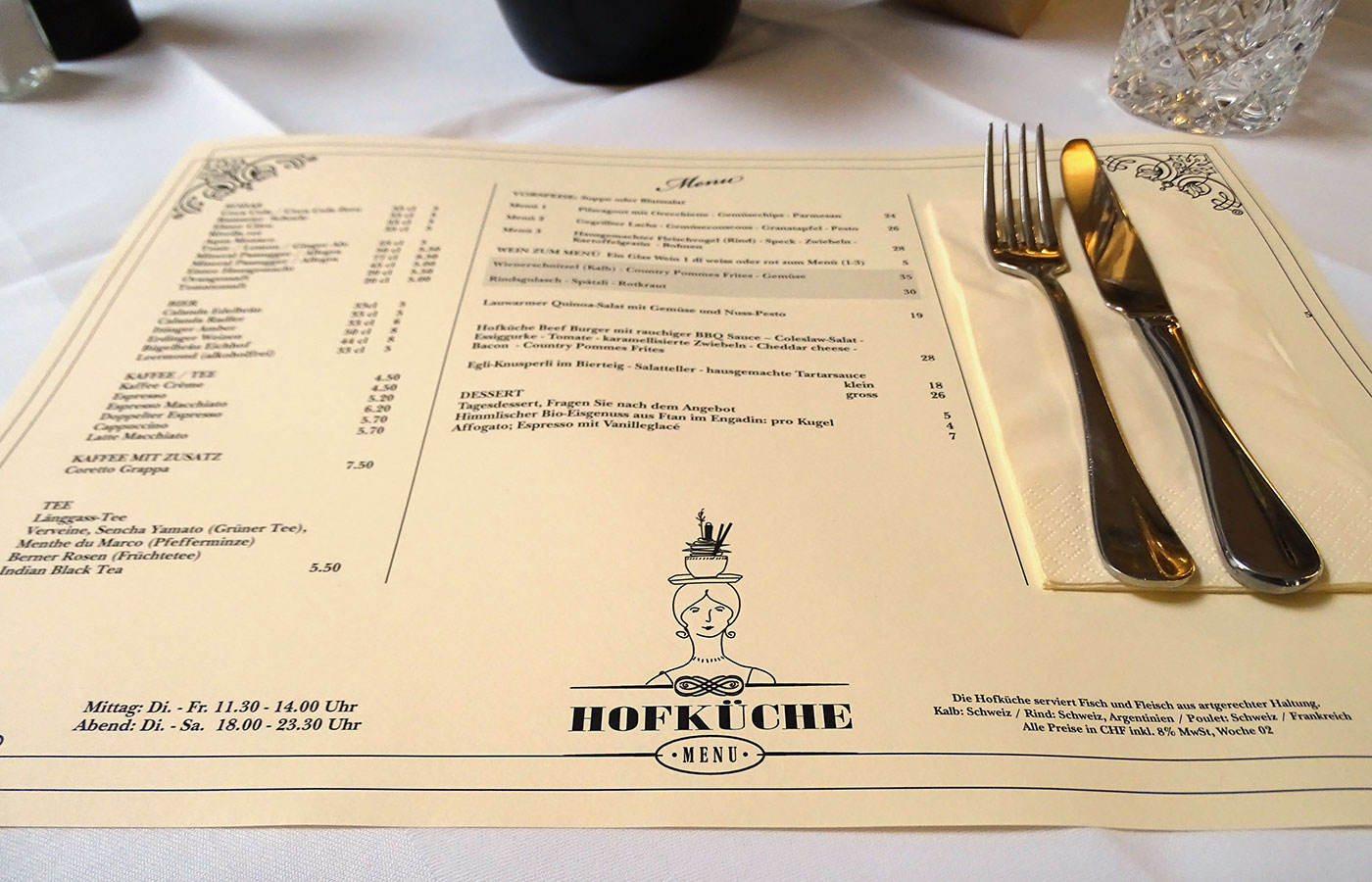 Restaurant Hofküche - Tischset
