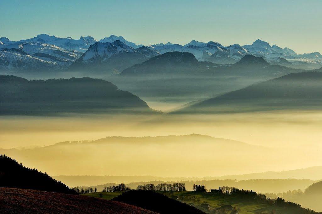 Foto Aussicht Alp Scheidegg