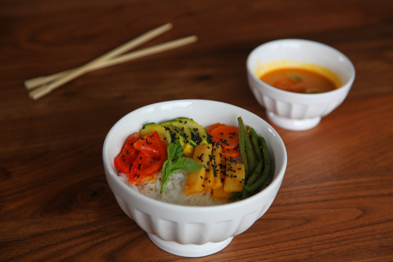Rezept Red Curry Bowl Lunchgate Insider