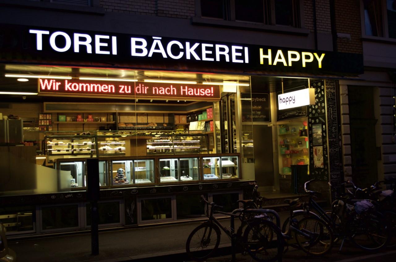 Macht glücklich: Am Epizentrum des Nachtlebens, der Langstrasse, wird man hier rund um die Uhr verköstigt. Foto: Lunchgate/Larissa