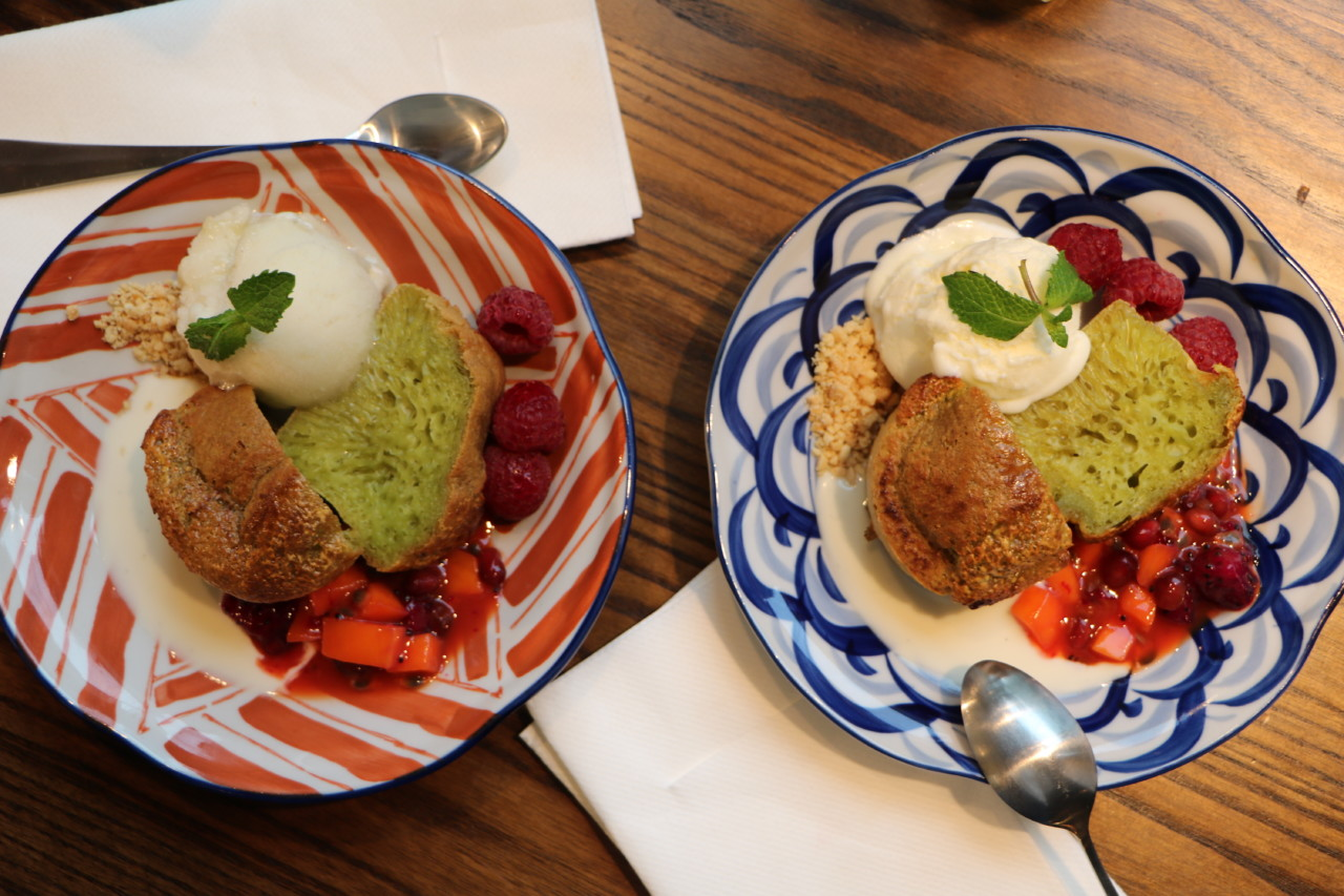 Der fluffige, saftige Pandan Cake ist weit entfernt vom gewohnten Mehlkuchen. Foto: Lunchgate/Simone