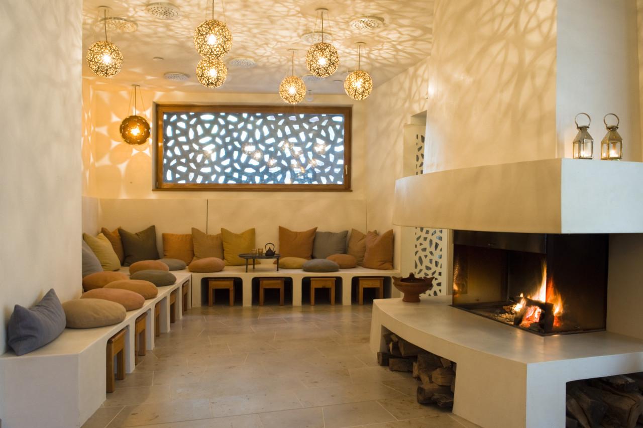 Der Innenraum des Hammam Basar + Salon.