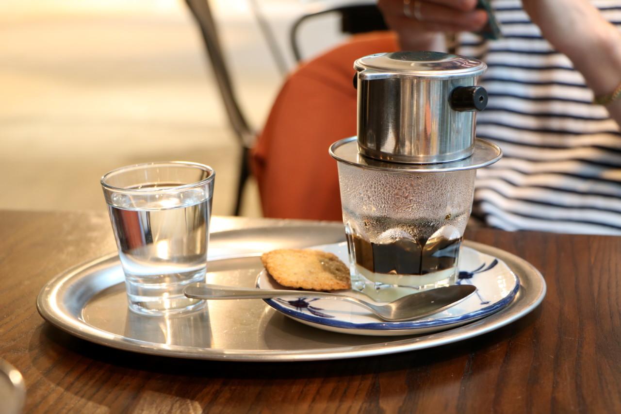 Must try: der vietnamesische Filterkaffee mit Kondesmilch. Foto: Lunchgate/Simone