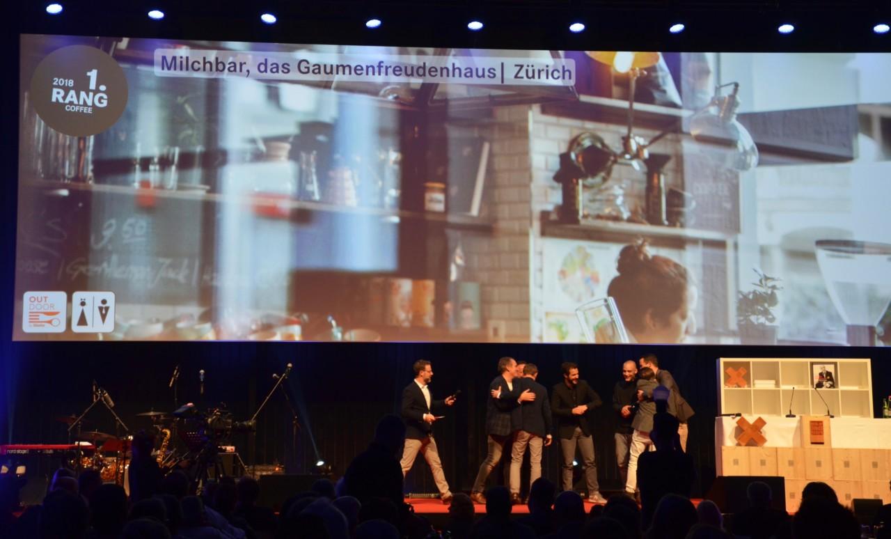 Die Zürcher Milchbar hat den ersten Preis in der Kategorie Coffee gewonnen.