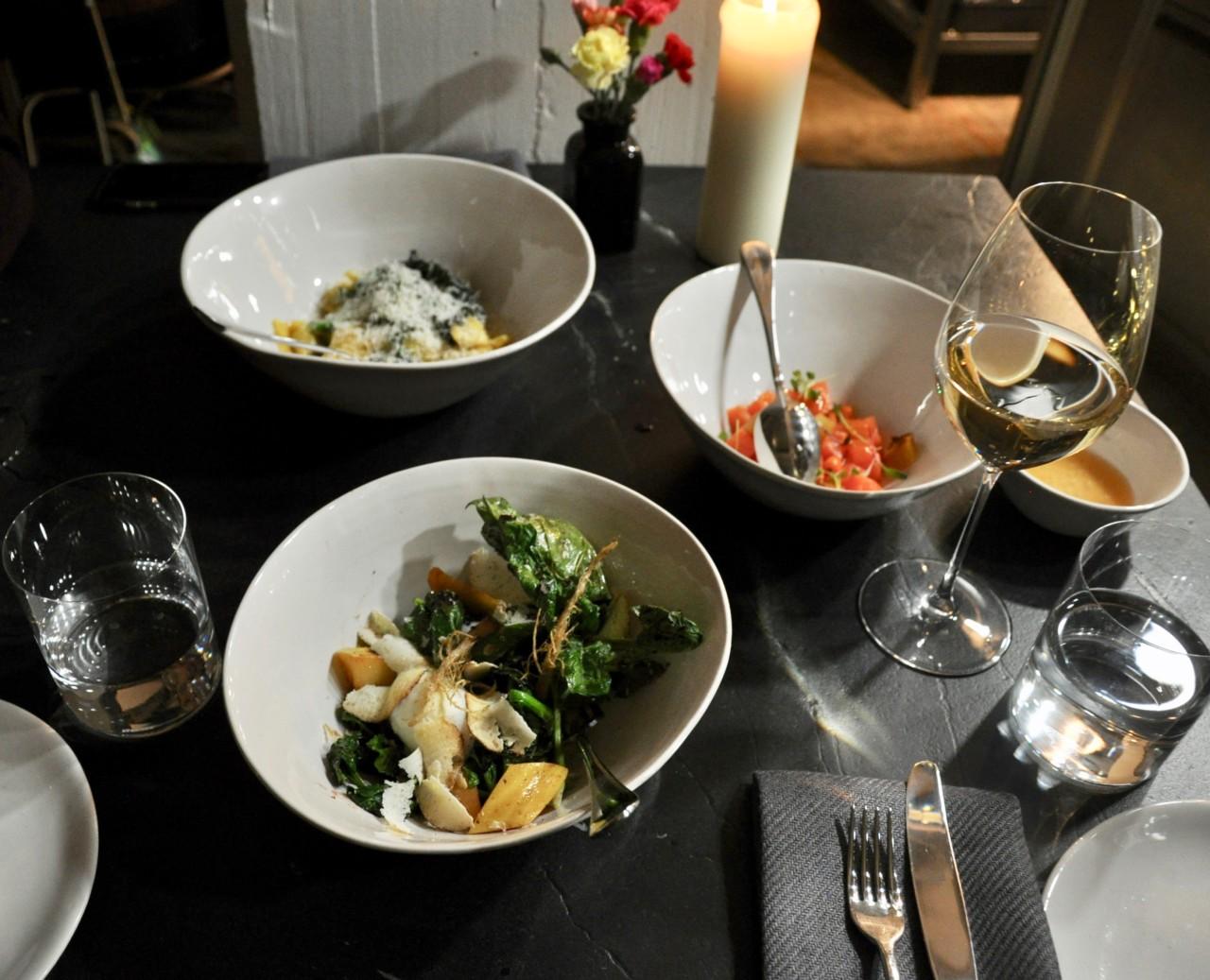 Drei Vorspeisen zum Teilen im Restaurant Memoire. Foto: Lunchgate/David