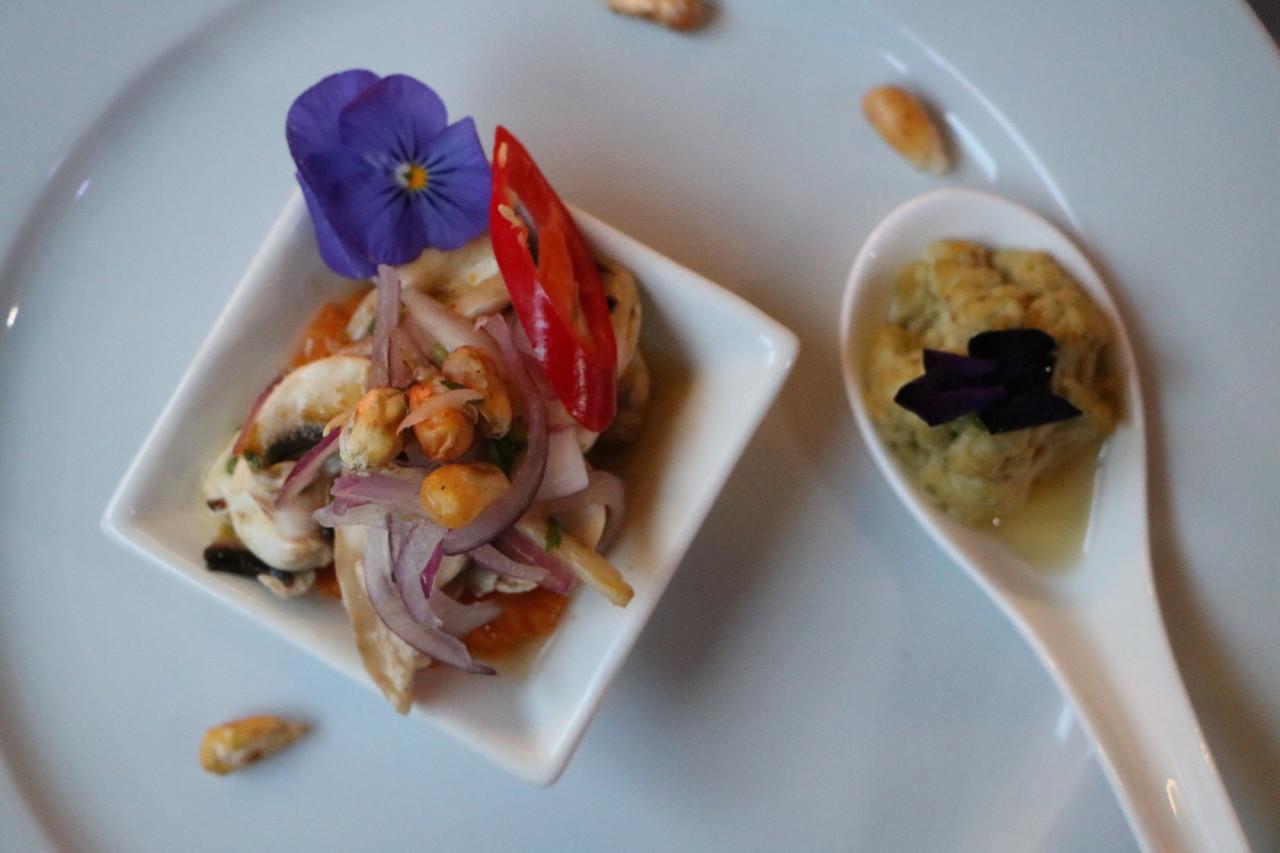 Ceviche mit rohem Thunfisch, oder hier mit Champignons, ist eines der bekanntesten peruanischen Gerichte. Foto: Lunchgate/Simone