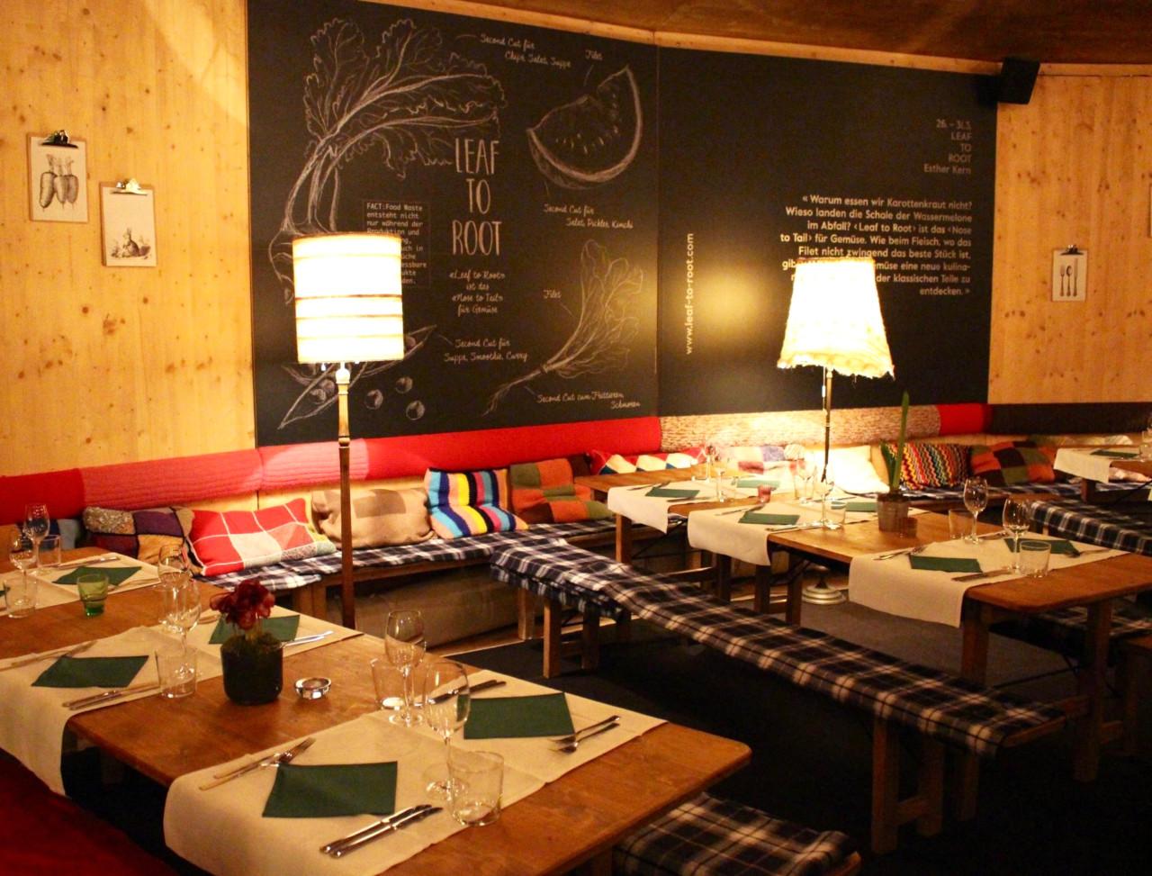 Bei Rübis & Stübis in Frau Gerolds Winterstube isst es sich gemütlich und gut informiert.