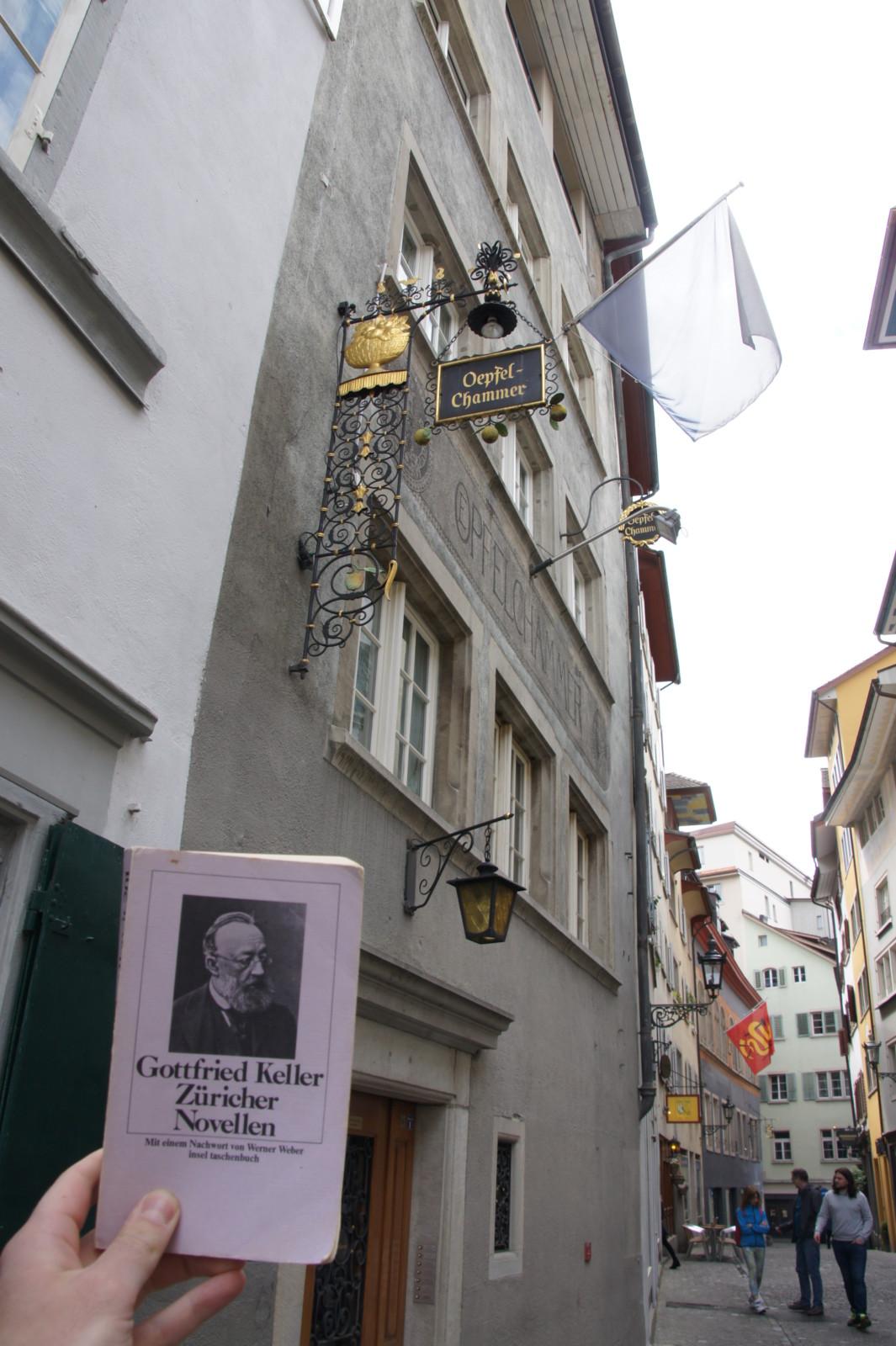 Gottfried Keller wohnte vis-à-vis der Öpfelchammer. Foto: Lunchgate/Max