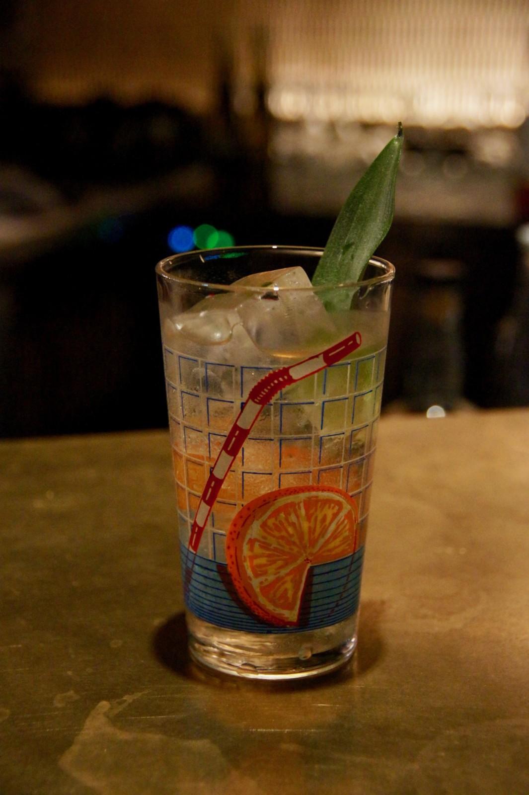 Der umweltbewusste Ananaspunch von David Gafner: Das Plastikröhrli gibt's nur als Glassujet dazu. Foto: Lunchgate/Max