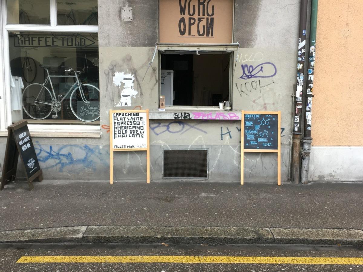 Kafi-Fenster an der Badenerstrasse