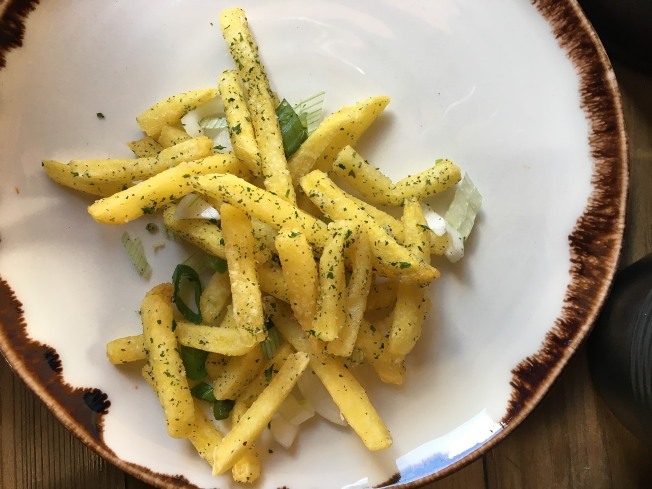 Die Parmesan Fries mit Petersilie. Foto: Lunchgate/Simone