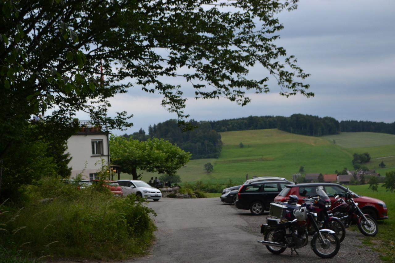 Der Ausblick hinter dem Albishaus aufs satte Grün. Foto: Lunchgate/Max