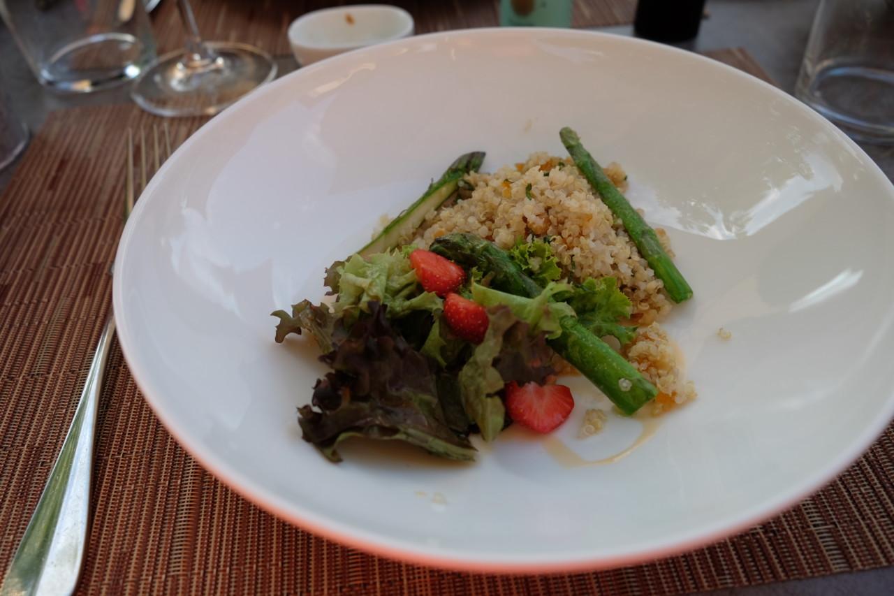 Weltbester Quinoasalat von Kiko Zeballos im Gasthaus zum Rathaus. Foto: Lunchgate/Anna