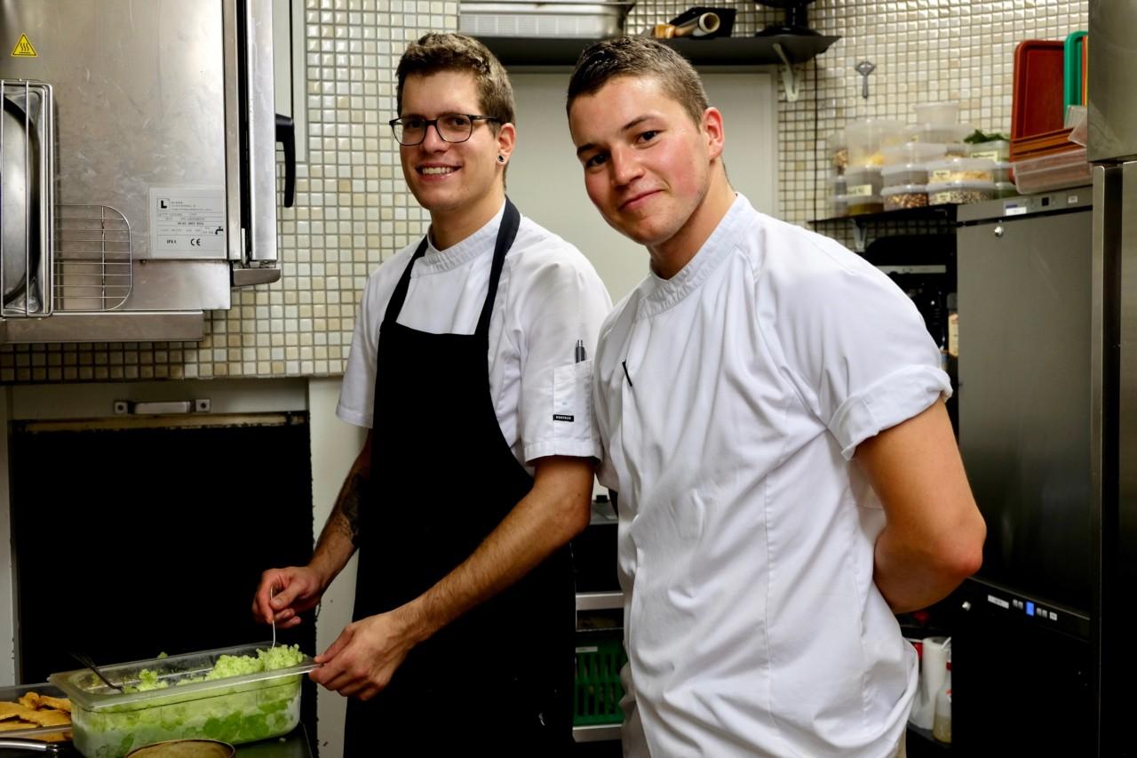 Roger Greber (links) und Pascal Bertschinger, so sympathisch wie talentiert. Foto: Lunchgate/Anna