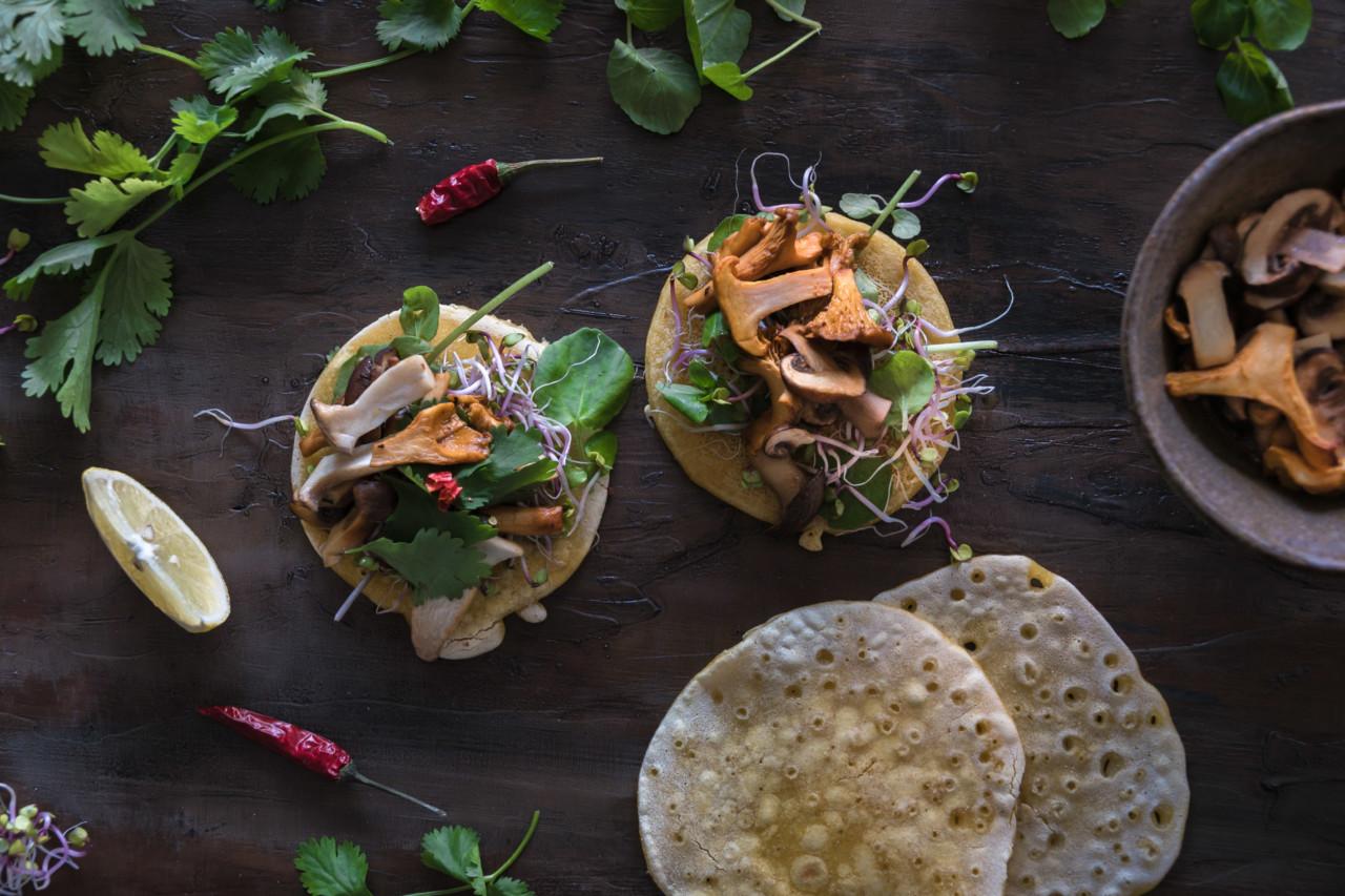 Die glutenfreien Fajitas sind schnell gemacht, und mit den frischen Pllzen einfach unwiderstehlich. Foto: LimonRimon/Naomi