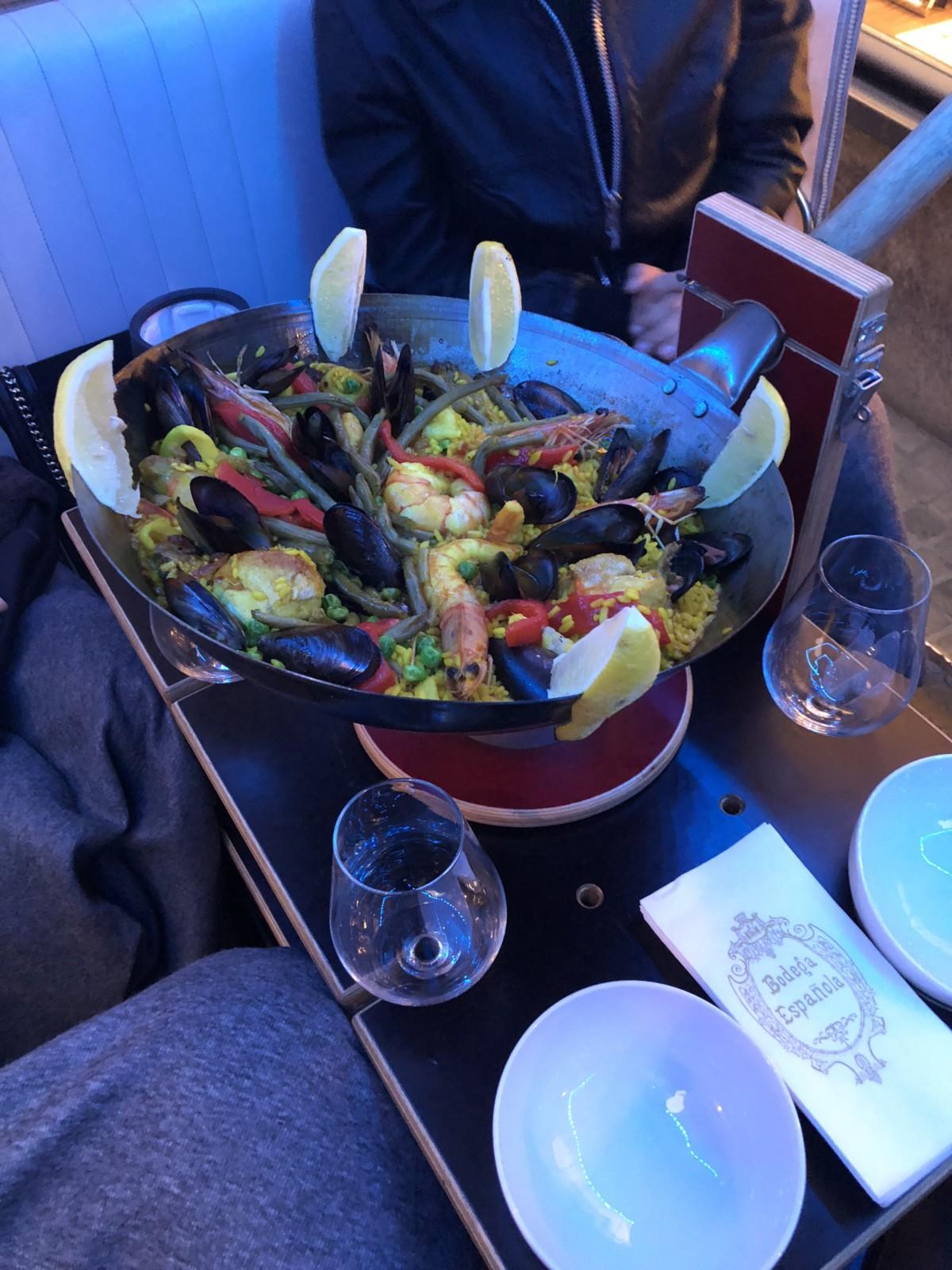Die leckere Paella, frisch gekocht von der Bodega Espanola im Zürcher Niederdorf. Foto: Lunchgate/Dave