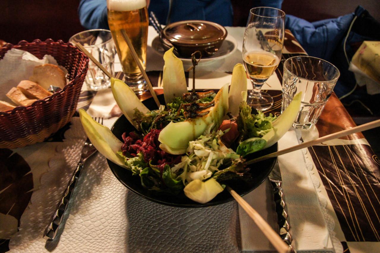 Heuschrecken zur Vorspeise. Foto: Lunchgate/Max