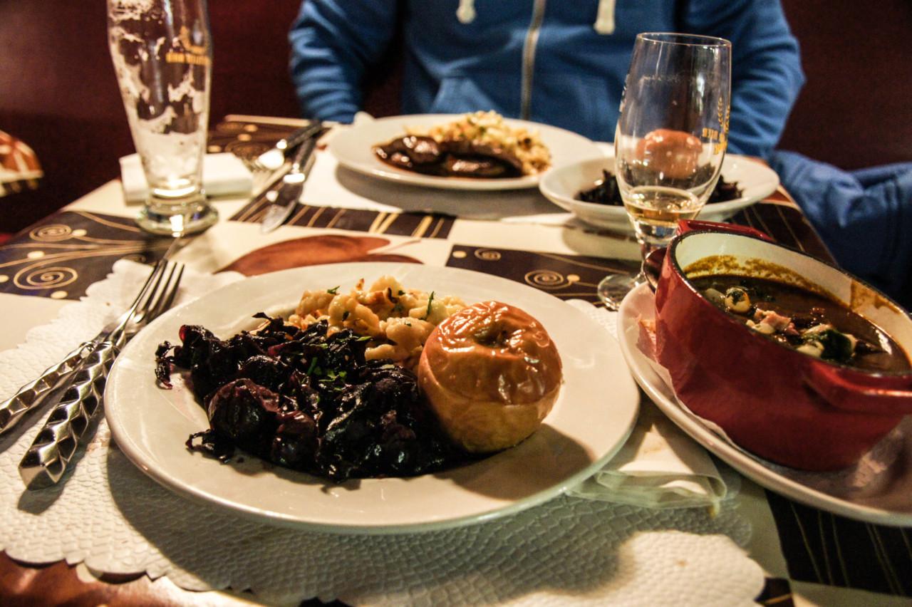 Wildeschweintraum mit Spätzli. Foto: Lunchgate/Max