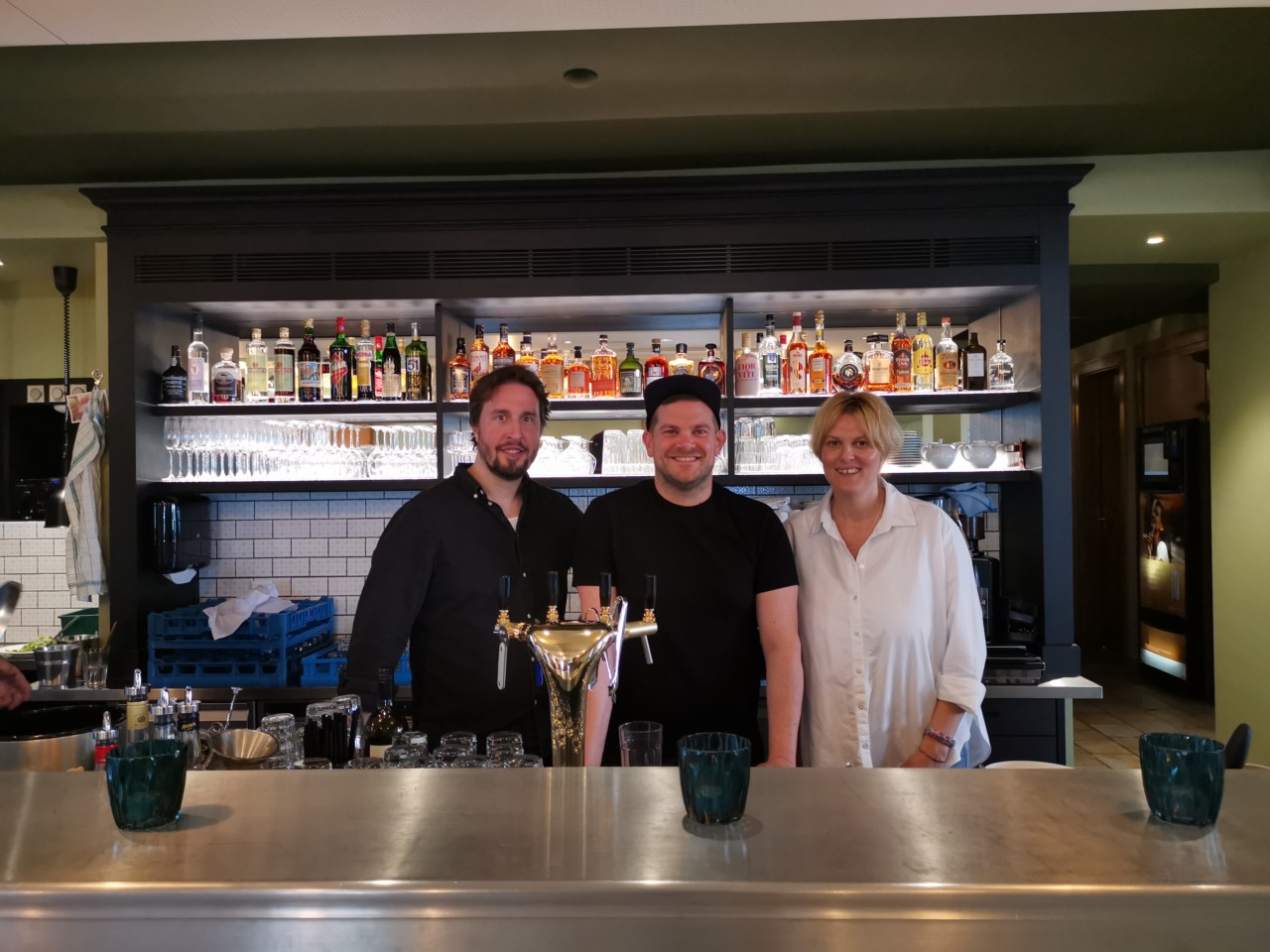 v.l.n.r.: Florian Bopst, René Müller, Céline Tschanz. Foto: Lunchgate/Max