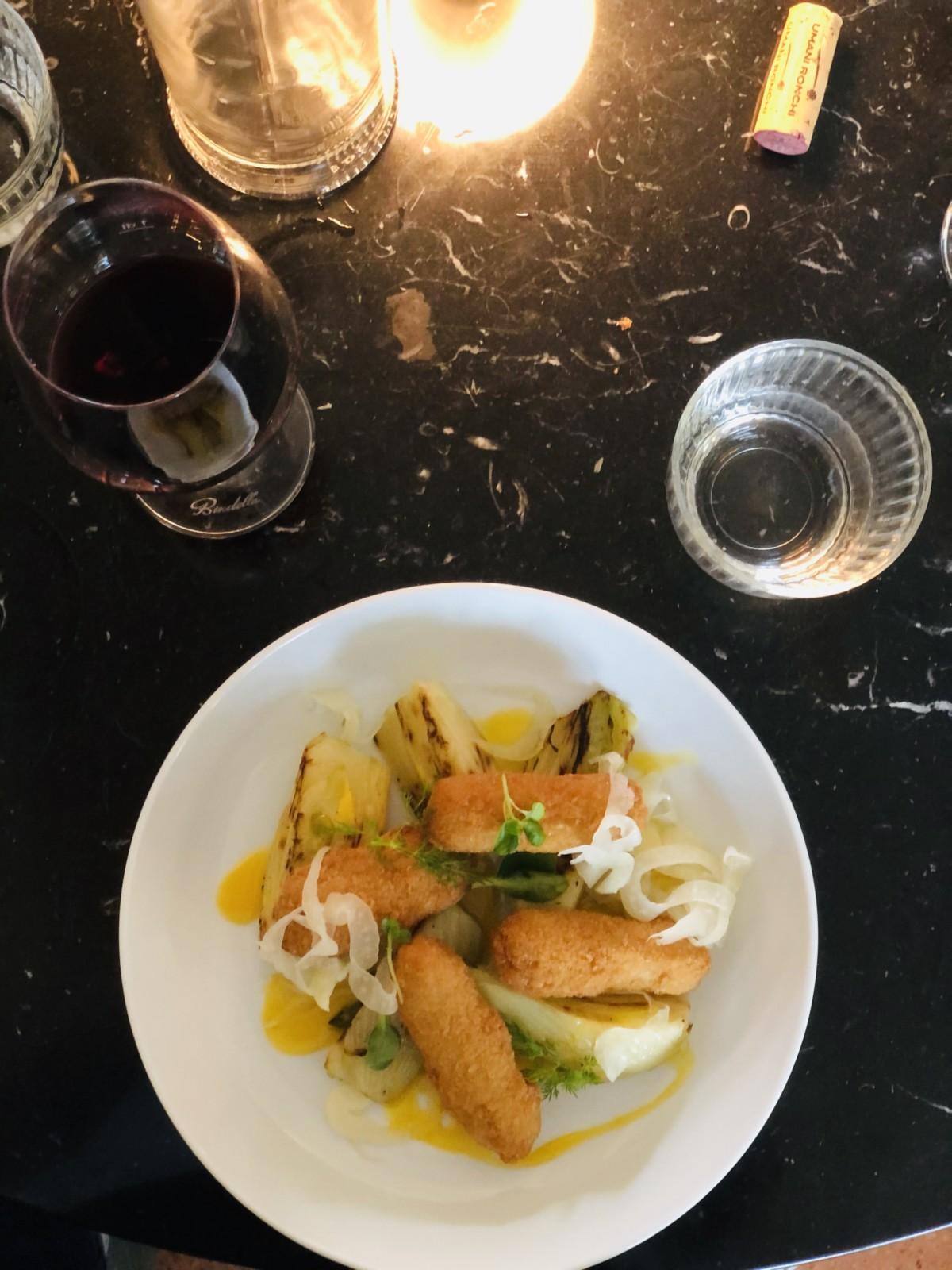 Rauchige vegane Kroketten mit geschmorrtem Fenchel - himmlisch!  Foto: Lunchgate/Daniel