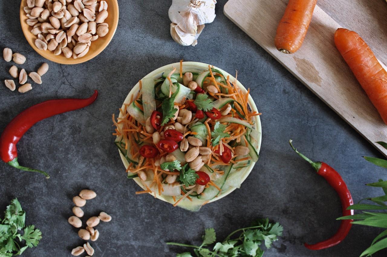 Fertiges Som Tam – uuund en Guete! Foto: Lunchgate/Selina