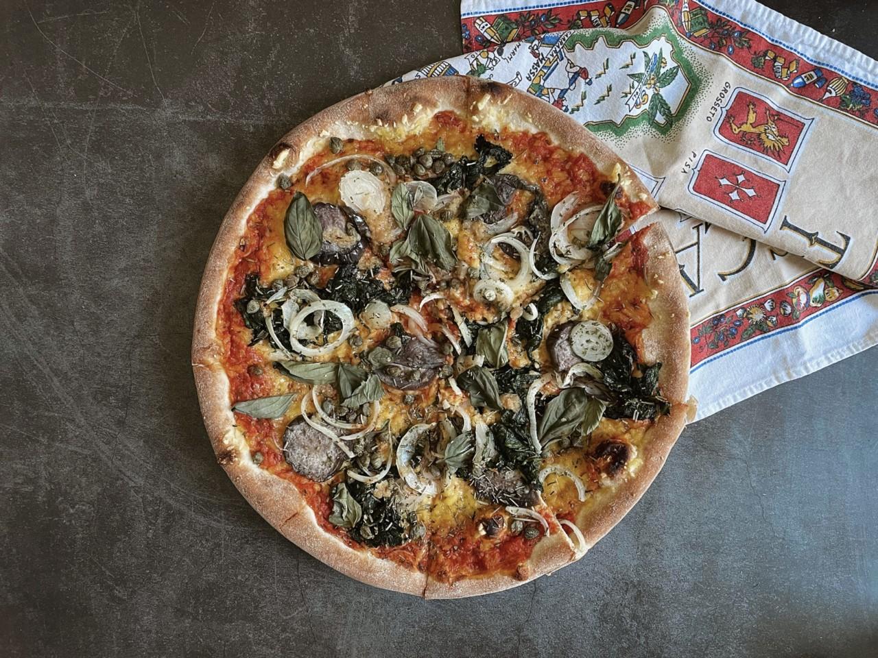 Bei La Pizza Buona kann man sich den Belag selbst aussuchen. Foto: Lunchgate/Selina